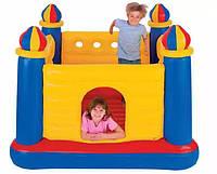 Дитячий Надувний батут 48259 Intex ігровий центр Замок 175х175 см