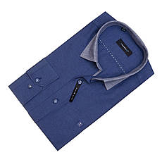 Рубашка мужская Toronto Темно-синяя, фото 3