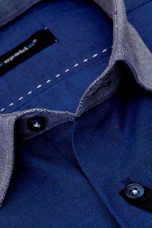 Рубашка мужская Toronto Темно-синяя, фото 2