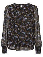 Блуза женская шифоновая черная в цветы бренда Vero Moda
