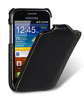 Чехол-флип (откидной) Melkco для Samsung ACE PLUS S7500 черный, фото 1