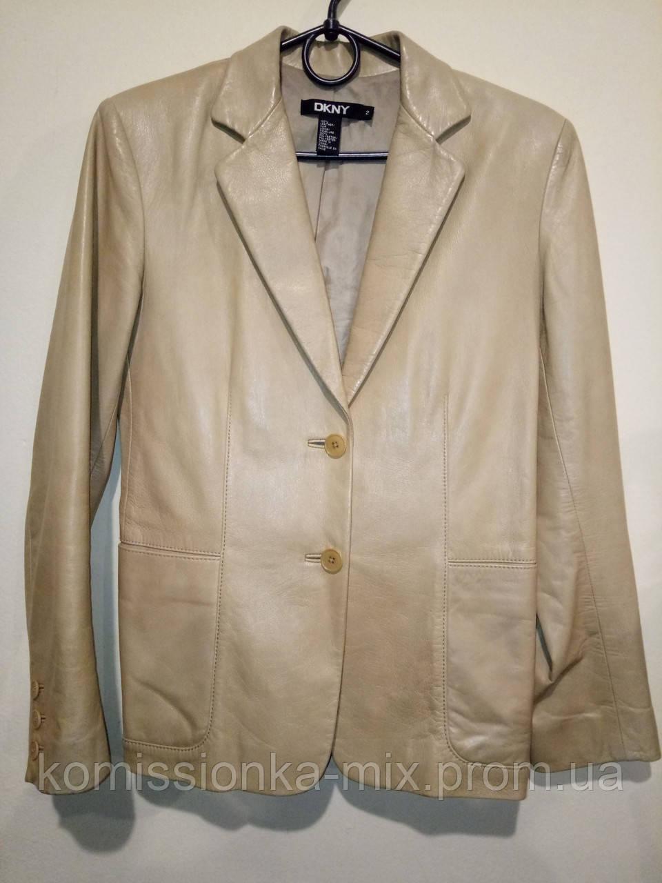 Пиджак кожаный DKNY  42 р.