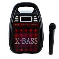Портативная акустическая система Golon RX-810 BT с микрофоном и светомузыкой bluetooth