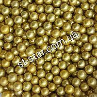 Сахарные шарики золотые 2мм
