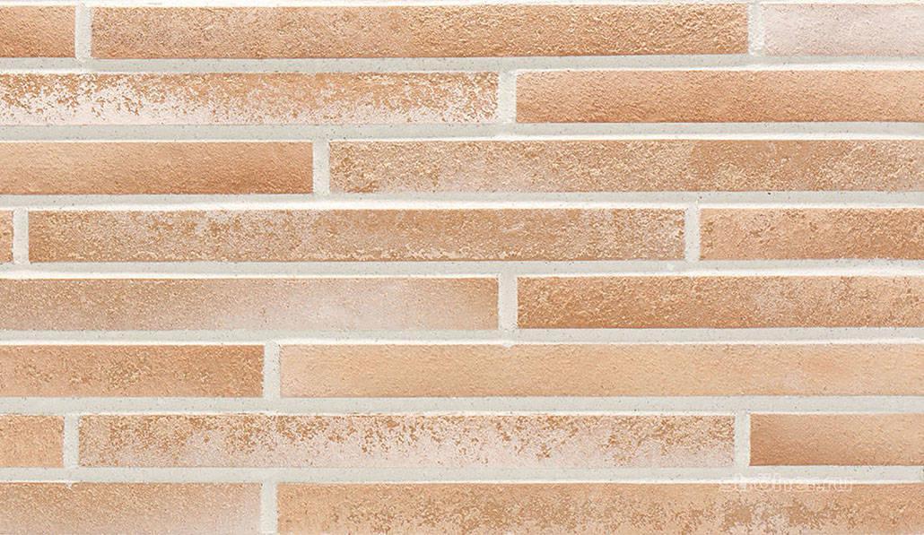 Фасадная плитка Клинкерная плитка фасадная Stroeher серии Stiltreu 454 Creme-Weiss Used Look  490х40