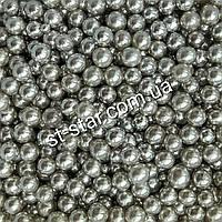 Сахарные жемчужины серебрянные 3мм, 7мм