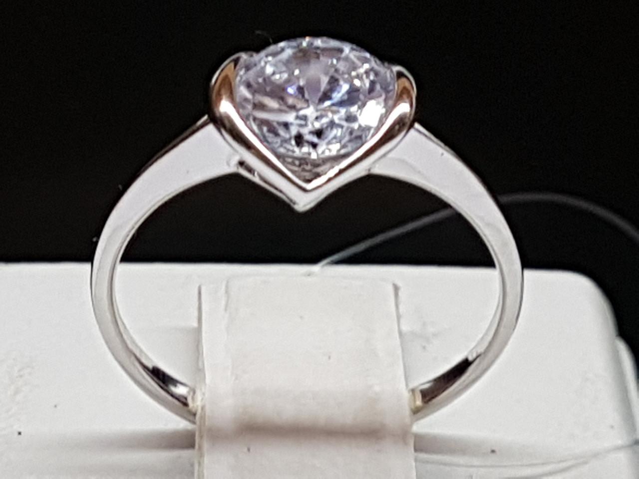 Серебряное кольцо с фианитом. Артикул 901-00390 15,5