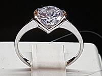 Серебряное кольцо с фианитом. Артикул 901-00390 15,5, фото 1