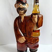 """Подставка под бутылку из дерева ручной работы """"Пират """", фото 1"""