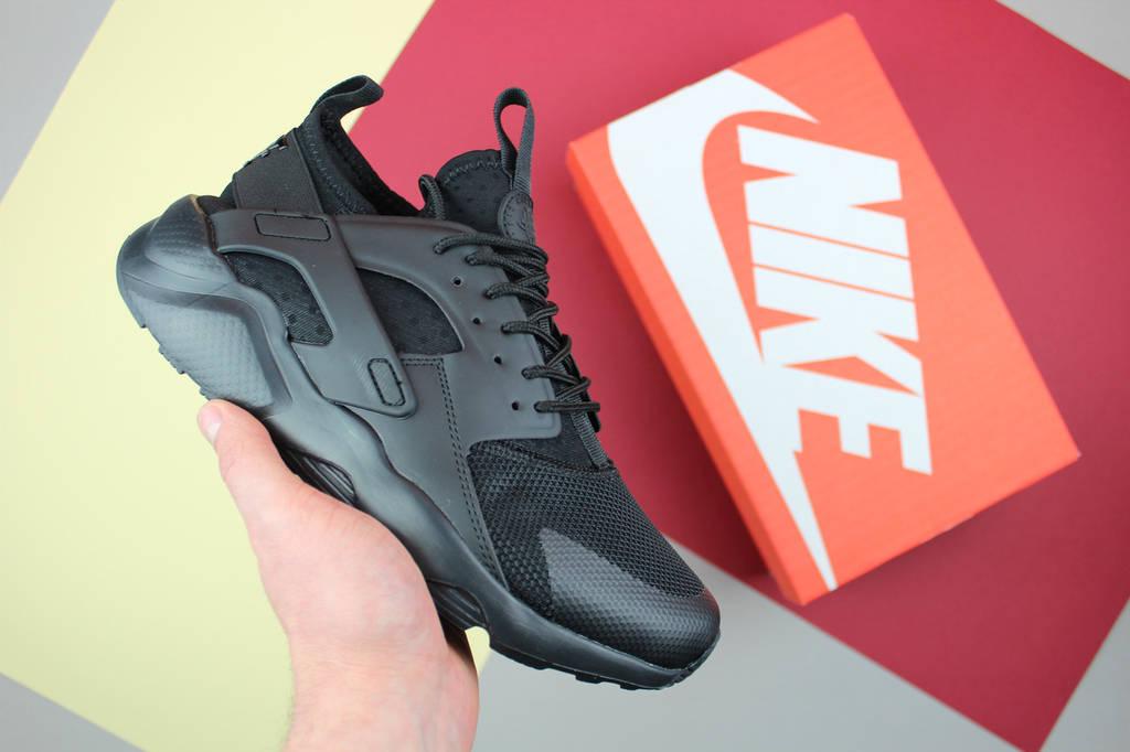 "Кроссовки мужские Nike Air Huarache Ultra BR ""Triple Black"" / NR-NKR-092 (Реплика)"