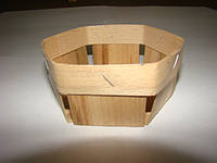 Эко упаковка корзинки, плетёные формы из дерева (шпона) форма с размерами 80*80*35мм