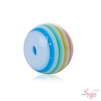 Акриловая бусина 8мм спектр радуги для рукоделия