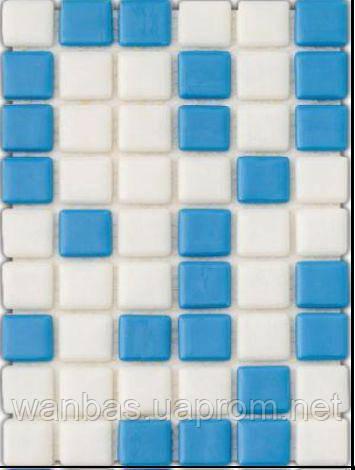 Мозаика стеклянная с закругленными краями MX 2540102