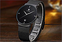 Кварцевые наручные часы WWOOR WR-8018 Black, фото 1