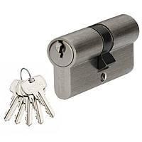 Цилиндр MVM P6E 80 (40x40) ключ-ключ матовый никель
