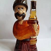 """Подставка под бутылку из дерева ручной работы """"Козак """""""