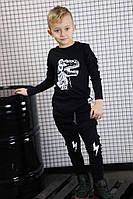 Модный костюм с динозавром для мальчика 4-5 лет В наличии цвет бордо