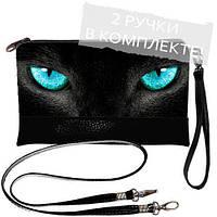 Женская сумка клатч Кошка с голубыми глазами
