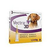 Вектра 3D (Vectra 3D)-капли инсектоакарицидные для собак весом 1,5–4 кг(1пипетка)( Ceva )