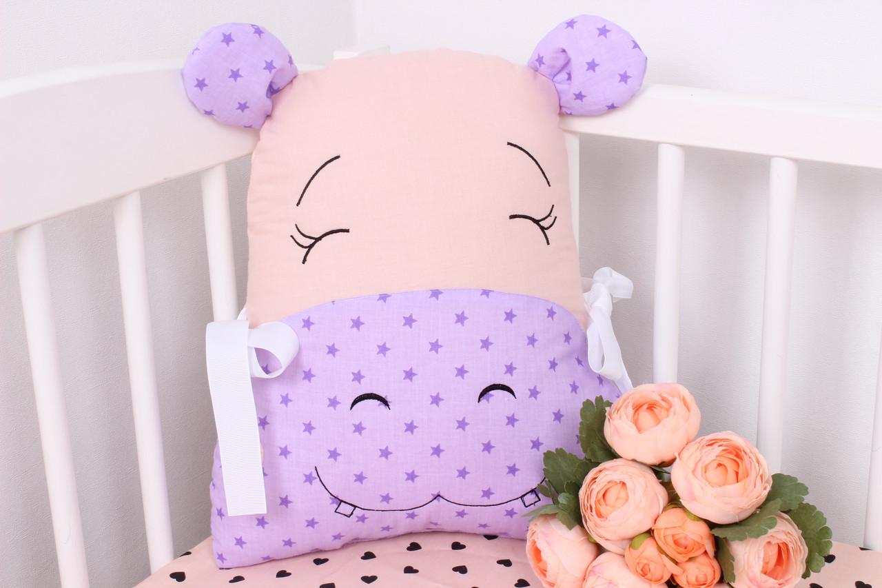 Игрушка бортик в детскую кроватку бегемот