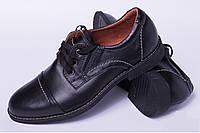 Подростковые туфли из натуральной кожи, детская кожаная обувь от производителя модель ДЖ3925