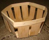 Эко упаковка корзинки, плетёные формы из дерева (шпона) форма с размерами 120*120*65мм, фото 1