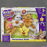 Карусель D 062 (36) музыкальная, заводной механизм, мягкие игрушки, в коробке