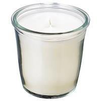 СМОТРЕВЛИГ Ароматическая свеча в стакане, ваниль и морская соль, 7 см, 30337717, IKEA, ИКЕА, SMATREVLIG