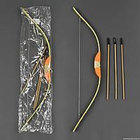 Лук деревянный С 23153 (100) со стрелами, 72см