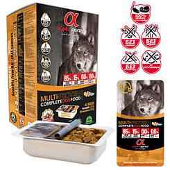 """Напіввологий корм для собак ALPHA SPIRIT """"МУЛЬТИПРОТЕЇН"""" 9,5 кг"""
