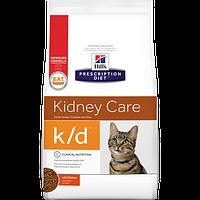 Hill's Prescription Diet k/d Feline - Сухой лечебный корм для поддержания функции почек и сердца у кошек 0,4КГ