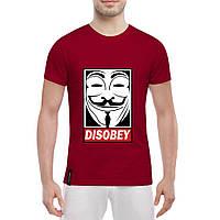 Футболка с печатью принта Disobey, фото 1