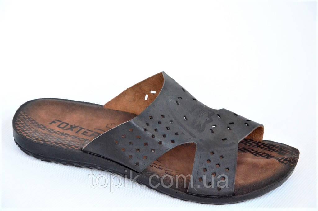 Шлепанци, сланци босоножки шлепки мужские Турция легкие практичные черные (Код: 1046)