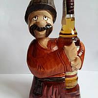 """Подставка под бутылку из дерева ручной работы """"Козак """", фото 1"""
