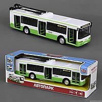 Троллейбус 9690 А (36) звук мотора, музыка, свет фар, двери открываются, инерция, на батарейке, в коробке