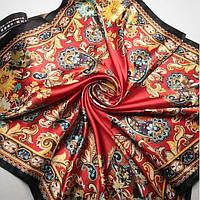 Шарф платок Красный визерунки