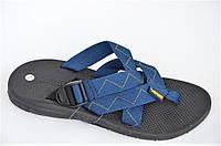 Шлепанци вьетнамки Vento синие мужские подростковые шлепки босоножки (Код: 1043) Только 40р!