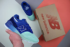 Кроссовки женские New Balance 997 Home Plate Pack Made In USA M997NSB Blue/Turquoise / NR-NBC-1556 (Реплика)