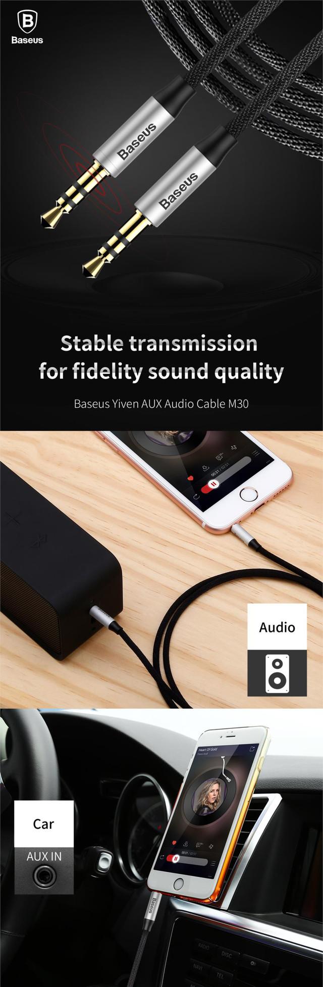 Baseus М30 Yiwen аудио кабель AUX 3.5mm jack
