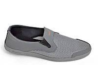 Мокасины кроссовки летние сетка мужские серые (Код: 1034), фото 1