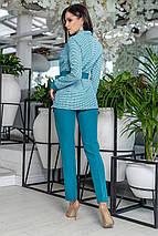 """Деловой женский брючный костюм """"SAMANTA"""" с жакетом в клетку (2 цвета), фото 3"""
