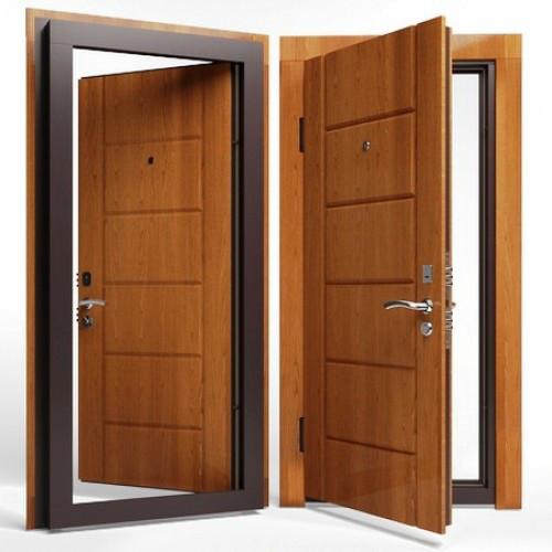 Входные двери ( сталь 3 мм.) МДФ + МДФ 8 мм. Замок KALE 252 c врезной броненакладкой