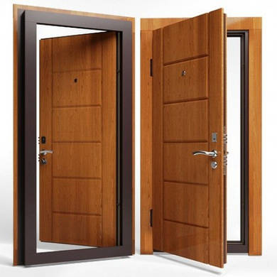 Входные двери ( сталь 2 мм.) МДФ + МДФ 8 мм. Замок KALE 252 c врезной броненакладкой