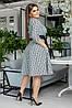 """Приталенное миди-платье креп """"DARLA"""" с карманами и контрастным поясом (большие размеры), фото 5"""