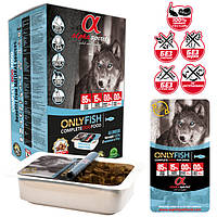 """Напіввологий корм для собак ALPHA SPIRIT """"ТІЛЬКИ РИБА"""" 1,5 кг, фото 1"""