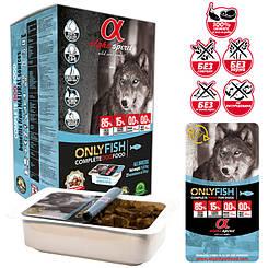 """Напіввологий корм для собак ALPHA SPIRIT """"ТІЛЬКИ РИБА"""" 1,5 кг"""