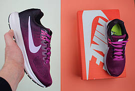 "Кроссовки женские Nike Air Zoom Structure 21 ""Tea Berry/Iced Lilac/Port Wine"" / NR-NKR-706 (Реплика)"