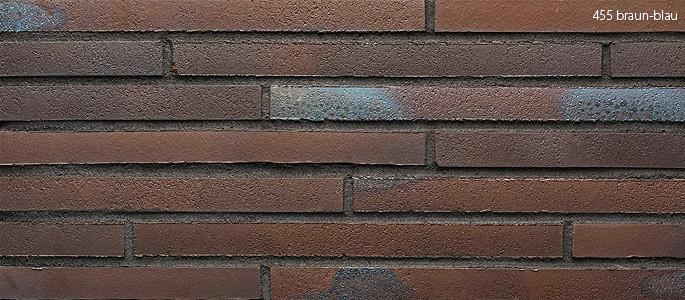 Клинкерная плитка Stroeher 455 braun-blau, серия RIEGEL 50 Ригель-формат 490х40х14