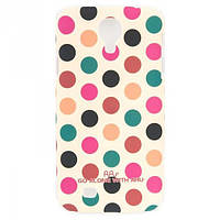 Чехол ARU для Samsung Galaxy S4 Cutie Dots Coffee