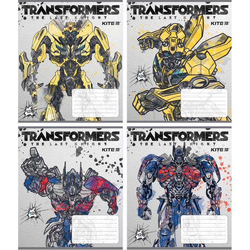 Тетрадь школьная Kite Transformers, 12 листов, клетка, TF18-232